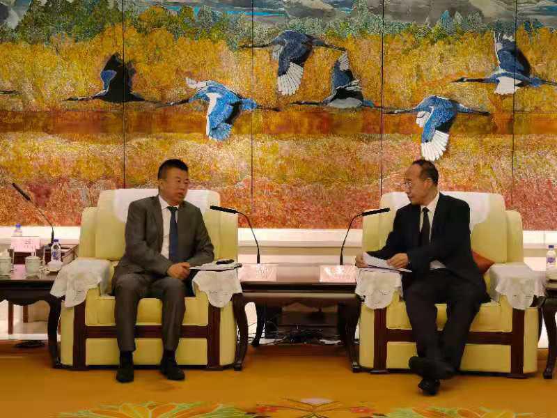 吉林省常务副省长吴靖平会见中海协代表团